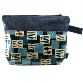 Kulturtasche Fische blau