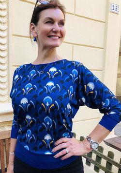 "Shirt Paula hier im Muster ""Fächer"" Farbe kobalt"