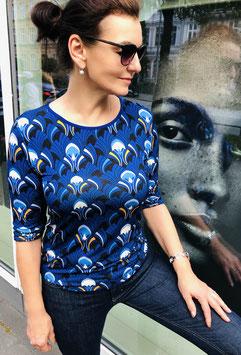 "Shirt Lola hier im Muster ""Fächer"" Farbe kobalt-blau"