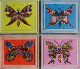 Vier Schmetterlinge - SOLD