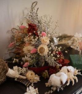 Bouquet de fleurs séchées artichaud