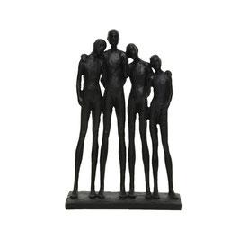 Statue Gruppe schwarz