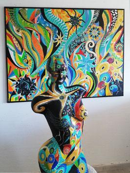 Sculpture ''Peau d'âme de Mille et un vie''