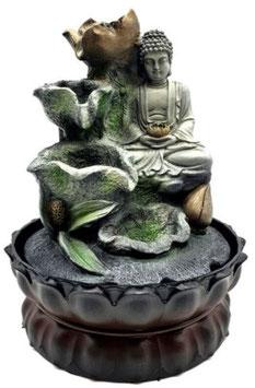Fontaine résine Booudha Lotus & Cascade 28cm