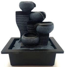 Fontaine résine cascade design 4pots 26cm