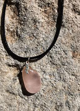 Collier en pierre naturelle: Quartz rose