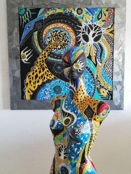 Sculpture ''Peau d'âme d'ici et au-delà''
