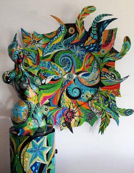 Sculpture ''Peau d'âme, vision fractale''