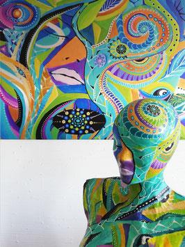 Sculpture ''Peau d'âme dans le secret d'une étoile''