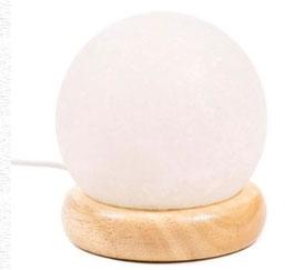 Mini lampe sphère sel blanche USB + LED