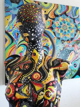 Sculpture ''Peau d'âme sur le chemin des possibles''