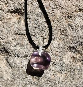 Collier en pierre naturelle: améthyste claire
