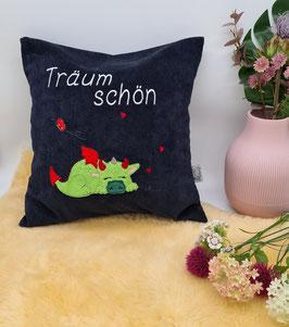 """Kissen """"Träum schön"""" 40x40"""