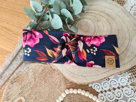 "Stirnband Turban ""Flowers Pink"""