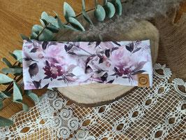 """Stirnband Turban """"Blüten Flieder"""""""