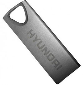 Memoria USB HYUNDAI U2BK/32GAS, Plata, 32 GB, USB 2.0, 10 MB/s, 3 MB/s
