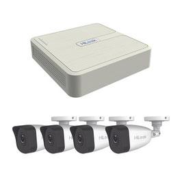 KIT IP 4 Megapixel / NVR de 4 Canales / 4 Cámaras IP Bala