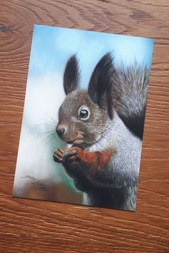 "FINE ART PRINT ""Squirrel"", 15 x 20 cm"