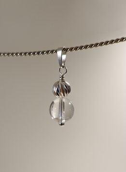 Bergkristall Anhänger in Silber 925