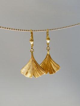 Ginkgo Ohrhänger in Silber 925 vergoldet