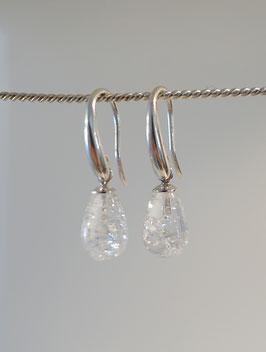 Ohrhänger Silber 925 mit Bergkristall Tropfen