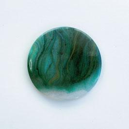 Handtaschen Spiegel, grünes Aquarell