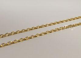 """feine Ankerkette diamantiert in Silber 925 vergoldet passend für die """"loop"""" Systeme"""