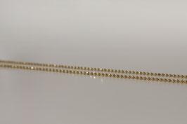 feine Kugel Kette facettiert in Silber 925 vergoldet