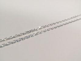 feine Ankerkette diamantiert in Silber 925
