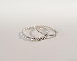 Kordelring breit in Silber 925
