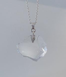 Glasanhänger breit in Silber 925