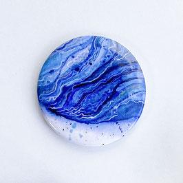 Handtaschen Spiegel, blaues Aquarell
