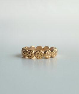 Rosenring in Silber 925 vergoldet