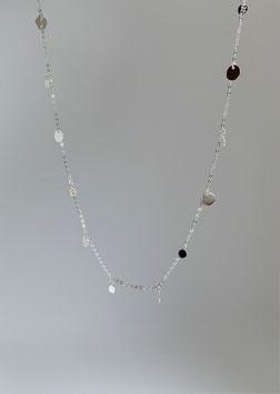 feine Ankerkette diamantiert in Silber 925 mit feinen Plättchen
