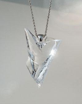 grosser Glasanhänger in Silber 925