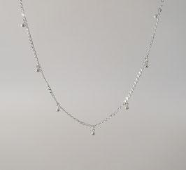 """feine Ankerkette diamantiert in Silber 925 mit feinen Kugleanhängern für die """"loop"""" Systeme"""
