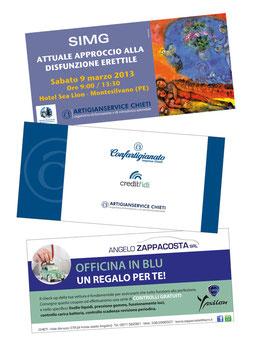 Progettazione grafica coupon, invito, cartolina