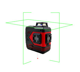 BOX-CV2G GREEN  360-degree double crossline laser with Plumb point