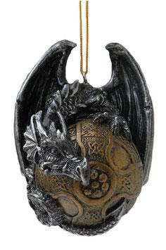 Drachen Hänger schwarz-gold