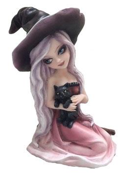 Hexe mit Katze