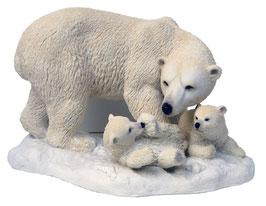 Eisbär mit zwei Jungen