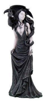 Fairy Myths-Elfe mit Drache schwarz-weiss