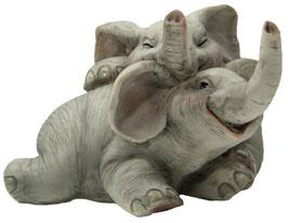 Elefanten-Paar liegend