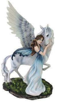 Elfe mit Pegasus