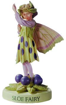 Flower Fairy auf Sockel Schlehe