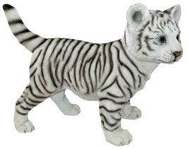 Tiger stehend weiss
