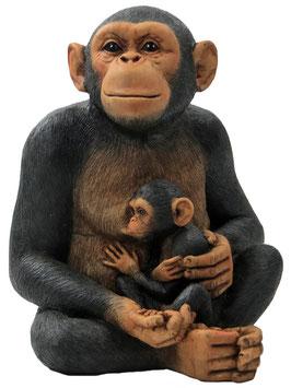 Schimpanse mit Baby