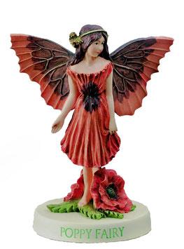 Flower Fairy auf Sockel Mohnblume
