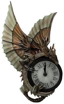 Anne Stokes - Steampunk Drachen-Uhr