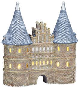 Porzellan Lichthaus Holsten Tor inkl. 2er Beleuchtung